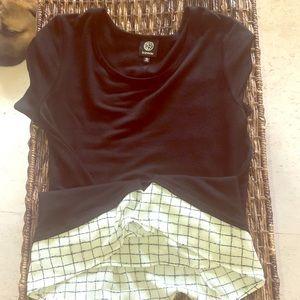 Black, very soft tunic T-shirt
